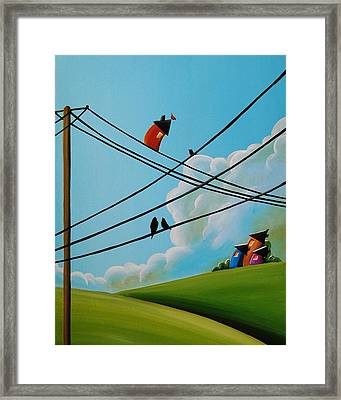 Reaching New Heights Framed Print by Cindy Thornton