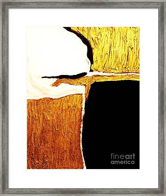 Reaching Out Copper And Gold Framed Print by Marsha Heiken