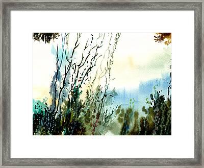 Reaching The Sky Framed Print by Anil Nene