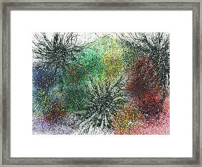 Reaching The Transcendent Realm #575 Framed Print by Rainbow Artist Orlando L aka Kevin Orlando Lau