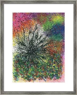 Reaching The Transcendent Realm #577 Framed Print by Rainbow Artist Orlando L aka Kevin Orlando Lau