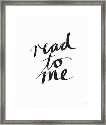Read To Me- Art By Linda Woods Framed Print by Linda Woods