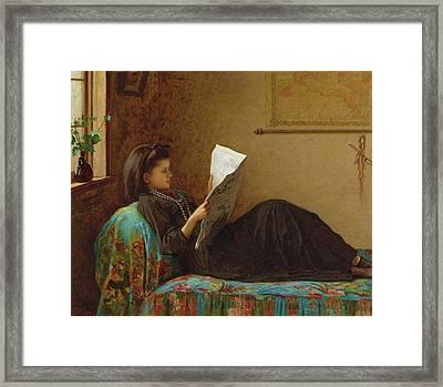 Reading Framed Print by Johnson