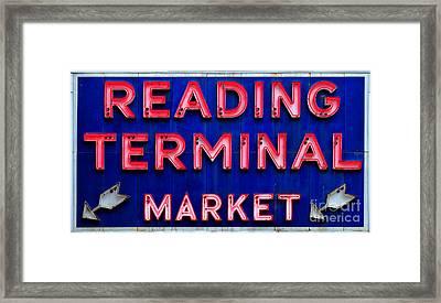 Reading Terminal Market Framed Print by Olivier Le Queinec