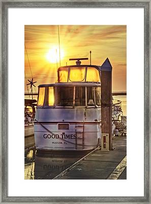 Ready For Good Times Framed Print by Debra and Dave Vanderlaan