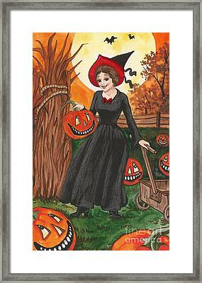 Ready For Halloween Framed Print by Margaryta Yermolayeva