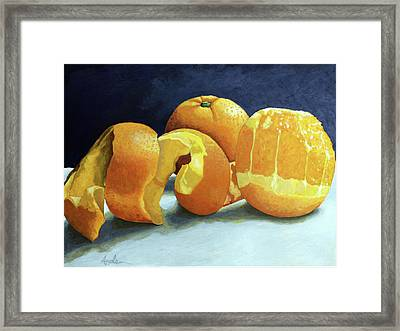 Ready For Oranges Framed Print by Linda Apple