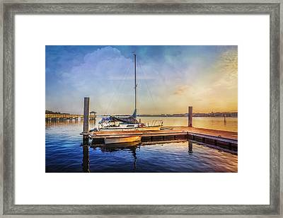 Ready For Sailing Framed Print by Debra and Dave Vanderlaan