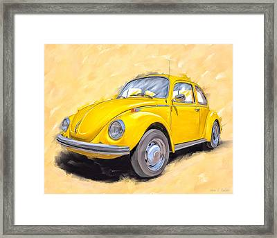 Ready To Go - Vintage Bug Framed Print by Mark Tisdale