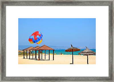 Ready To Launch Framed Print by Corinne Rhode
