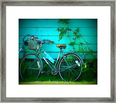 Ready To Ride Framed Print by Mg Blackstock