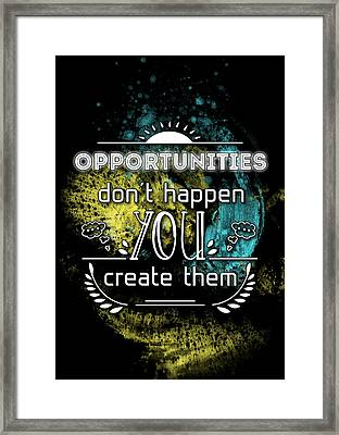 Reality Art Opportunities Framed Print by Melanie Viola