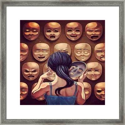 Reality Framed Print by Youssef Youchaa
