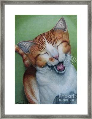 Really I Am Wide Aaawaaaaake Framed Print by Beverly Fuqua