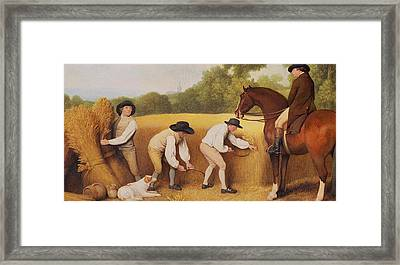 Reapers Framed Print by George Stubbs