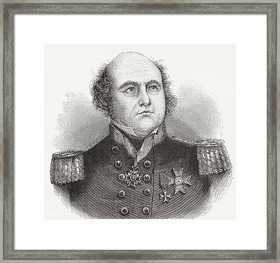 Rear-admiral Sir John Franklin, 1786 Framed Print by Vintage Design Pics