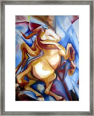 Rearing Horse Framed Print by Leyla Munteanu
