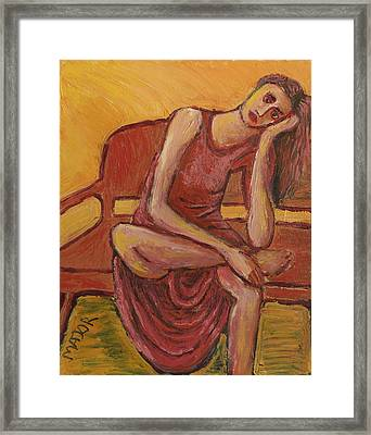 Rebecca Framed Print by Clarence Major