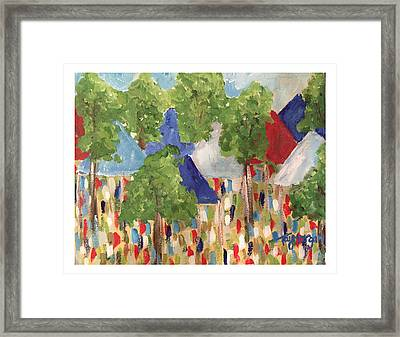 Rebels In The Grove Tailgating  Framed Print by Tay Morgan