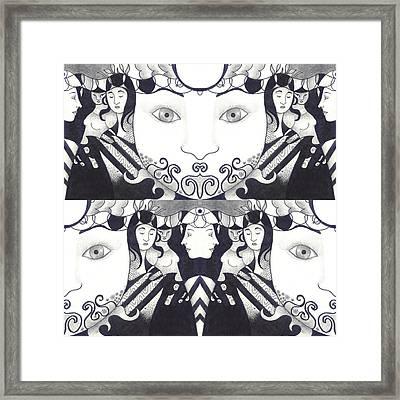 Recalling The Goddess 1 Framed Print by Helena Tiainen