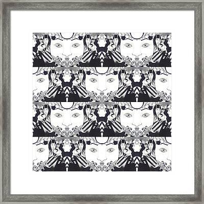 Recalling The Goddess 1 Tile 1 Framed Print by Helena Tiainen
