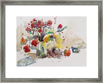 Reception Framed Print by Becky Kim