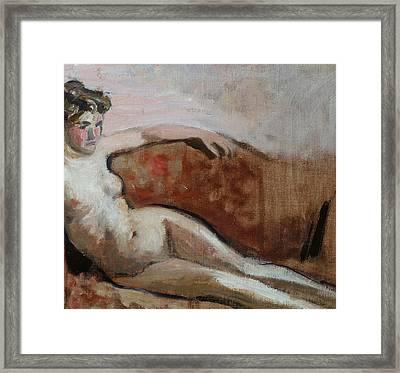 Reclining Nude Framed Print by Edouard Vuillard