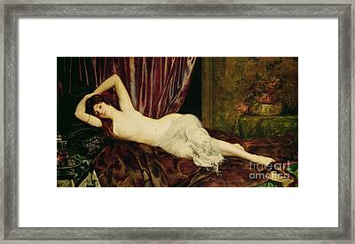 Reclining Nude Framed Print by Henri Fantin Latour