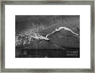 Reclining Nudes Framed Print by Inge Johnsson