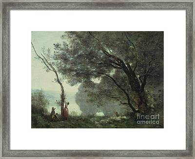 Recollections Of Mortefontaine Framed Print by Jean Baptiste Corot
