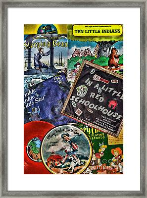 Records For Children Framed Print by Paul Ward