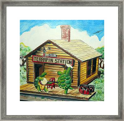 Recreation Of Terrapin Station Album Cover By The Grateful Dead Framed Print by Ben Jackson