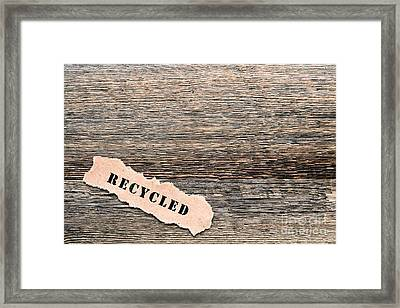 Recycled Wood Framed Print by Olivier Le Queinec