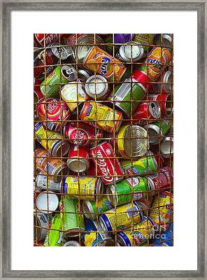 Recycling Cans Framed Print by Carlos Caetano