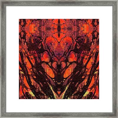 Red Abstract Art - Heart Matters - Sharon Cummings Framed Print by Sharon Cummings