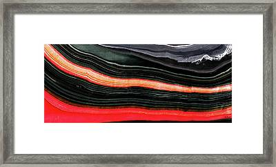 Red And Black Art - Fire Lines - Sharon Cummings Framed Print by Sharon Cummings