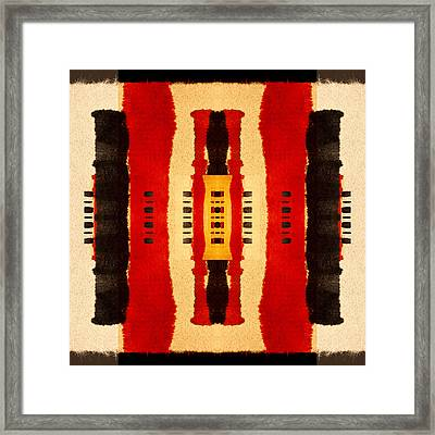 Red And Black Panel Number 4 Framed Print by Carol Leigh