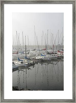 Red And Blue Boats Framed Print by Laurie With