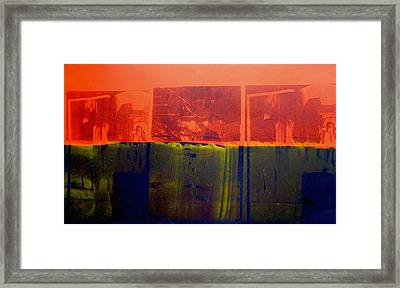 Red And Blue Framed Print by David Studwell