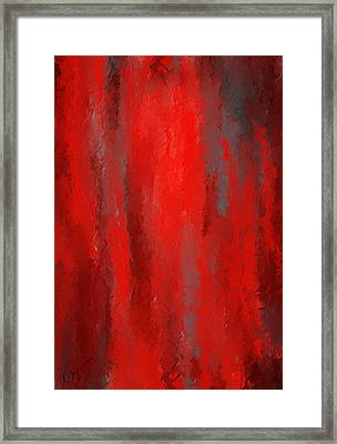 Red And Bold - Red And Gray Art Framed Print by Lourry Legarde