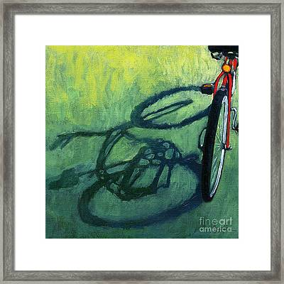 Red And Green - Bike Art Framed Print by Linda Apple