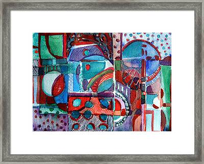 Red And Green Jazz Framed Print by Mindy Newman