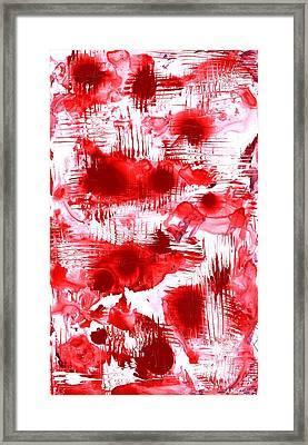 Red And White Framed Print by Anastasiya Malakhova