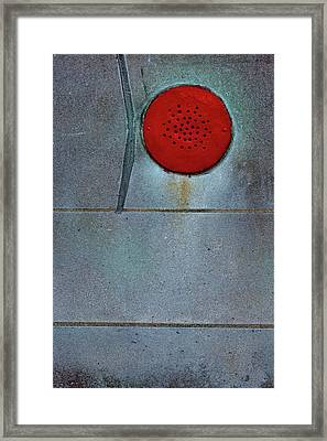Red And White Framed Print by Robert Ullmann