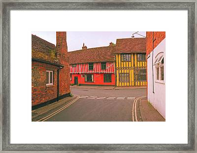 Red And Yellow Framed Print by Jan W Faul