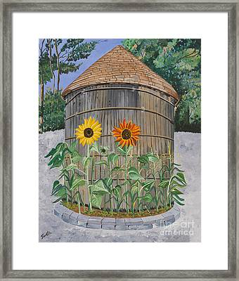 Red And Yellow Framed Print by Sweta Prasad