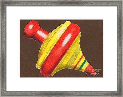 Red And Yellow Top Framed Print by Glenda Zuckerman