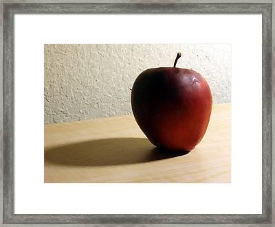 Red Apple Framed Print by Eric Forster