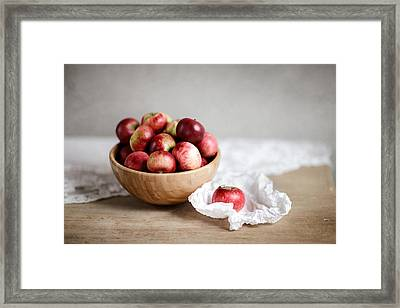 Red Apples Still Life Framed Print by Nailia Schwarz