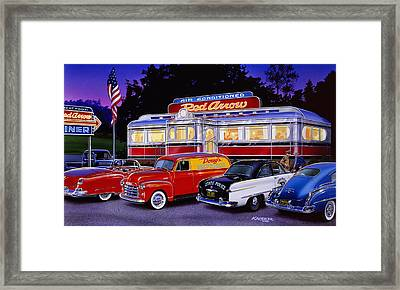 Red Arrow Diner Framed Print by Bruce Kaiser